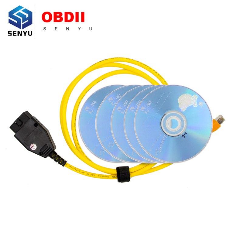 Prix pour 2017 Nouveau ESYS Données Câble Pour BMW ENET Ethernet à OBD Interface E-SYS ICOM Codage pour F-série De Diagnostic câble