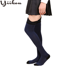 Female autumn and winter models cotton stockings women do not fall off knee long stocking girl fashion non-slip