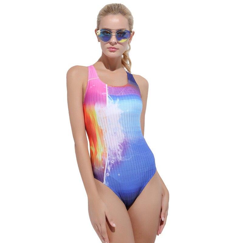 sbart Nylon bikini Swimming Suit Woman race Conservative Cover The Belly Chest Gather Thin Swimwear Motion Self-cultivation sbart upf50 806 xuancai