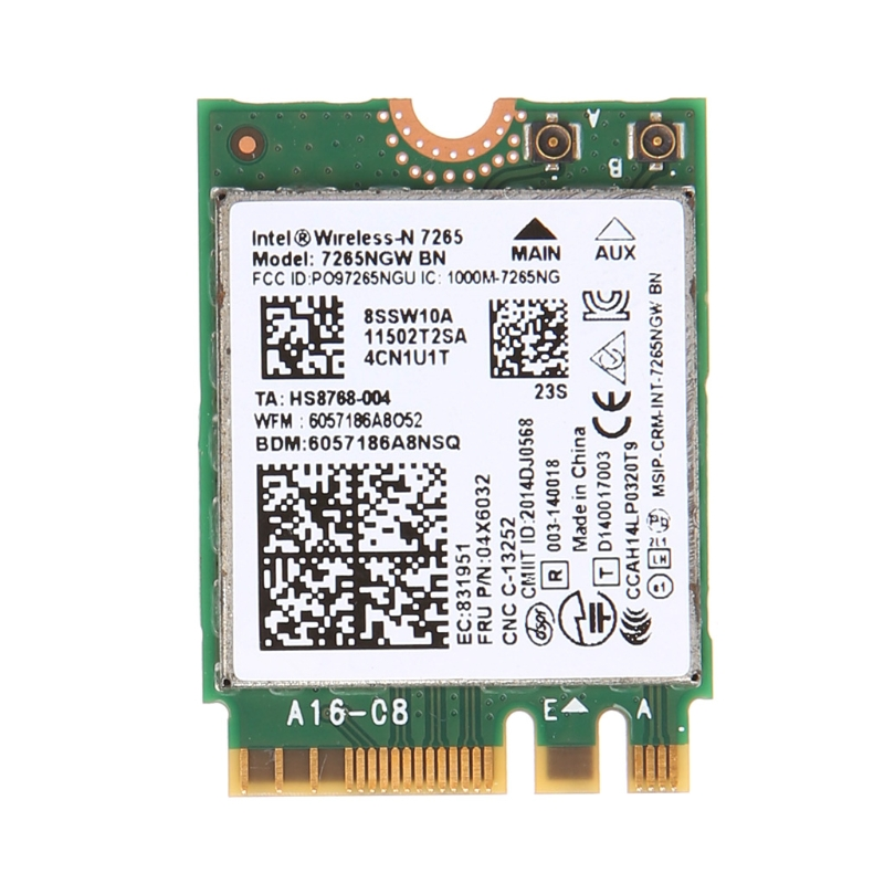 Para Intel wireless-n 7265 7265NGW BN doble banda 2x2 Wi-Fi Bluetooth 4,0 tarjeta WiFi