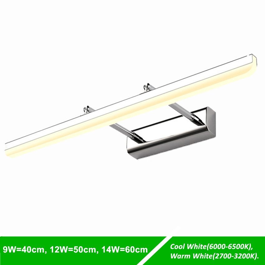 [DBF]180 Degrees Rotatable 9W 12W IP65 Waterproof Sconce Length Adjustable Wall Light Bathroom Lighting Modern LED Mirror Light