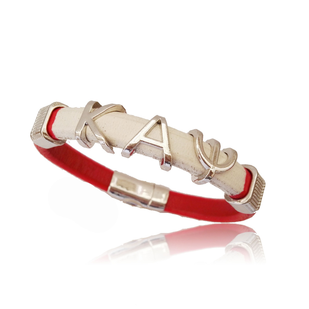 customized Alpha style Jewelry divine Fraternity Kappaa Alpha Psi Fraternity leather magnetic bracelet bangle