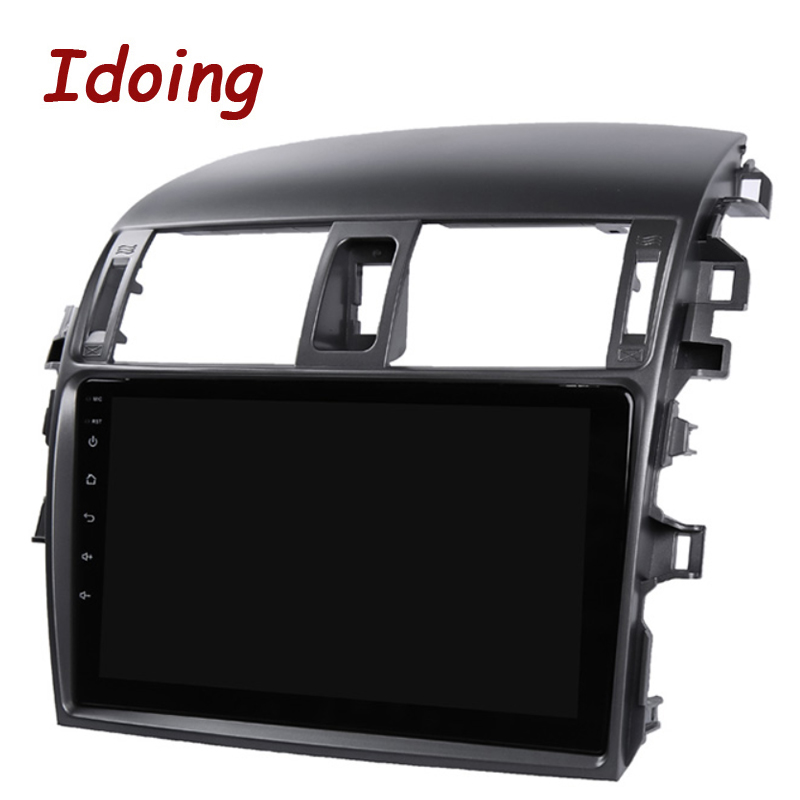 """Perfect Idoing 9""""Car Multimedia Video Player Navigation GPS Android8.1For Toyota Corolla E150 140 2008-2013 Navigation Radio NO 2DIN DVD 5"""