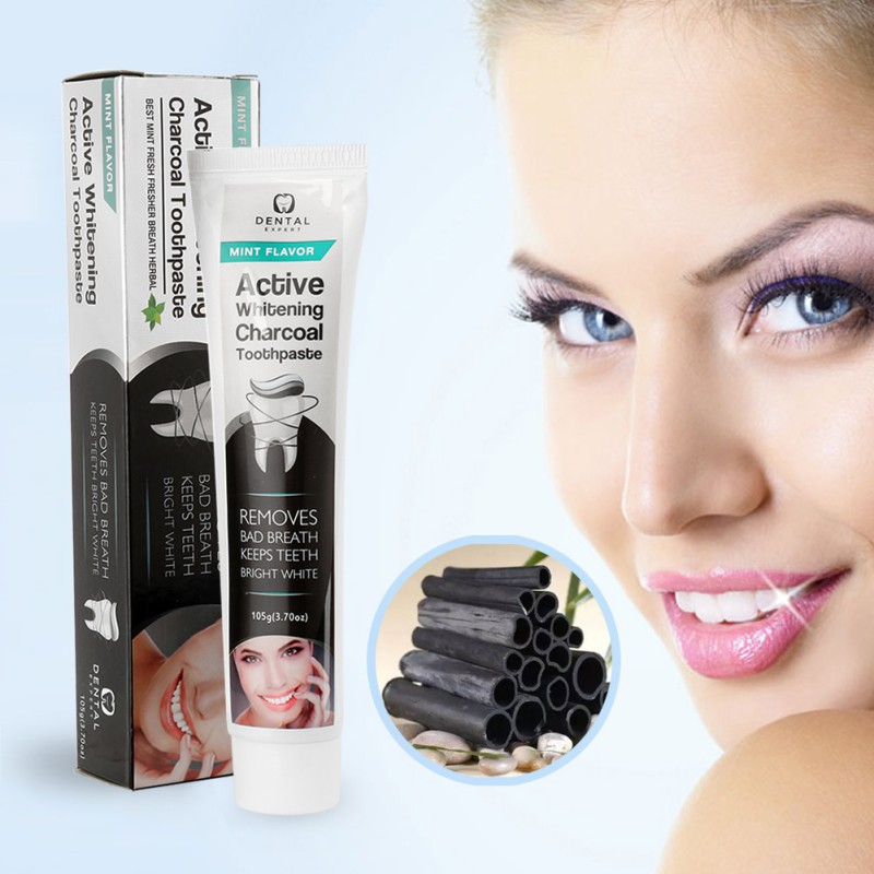 New Hot Sale 1pcs Bamboo Toothpaste Black Toothpaste Whitening Teeth Activated Charcoal All-purpose Teeth Toothpaste Makeup 105g 2
