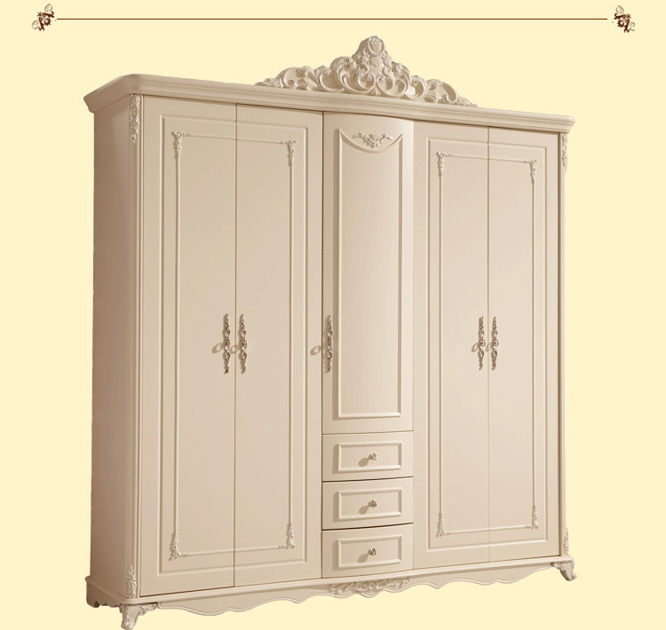French Style Wardrobe closet Wardrobe ivory carving five French ...
