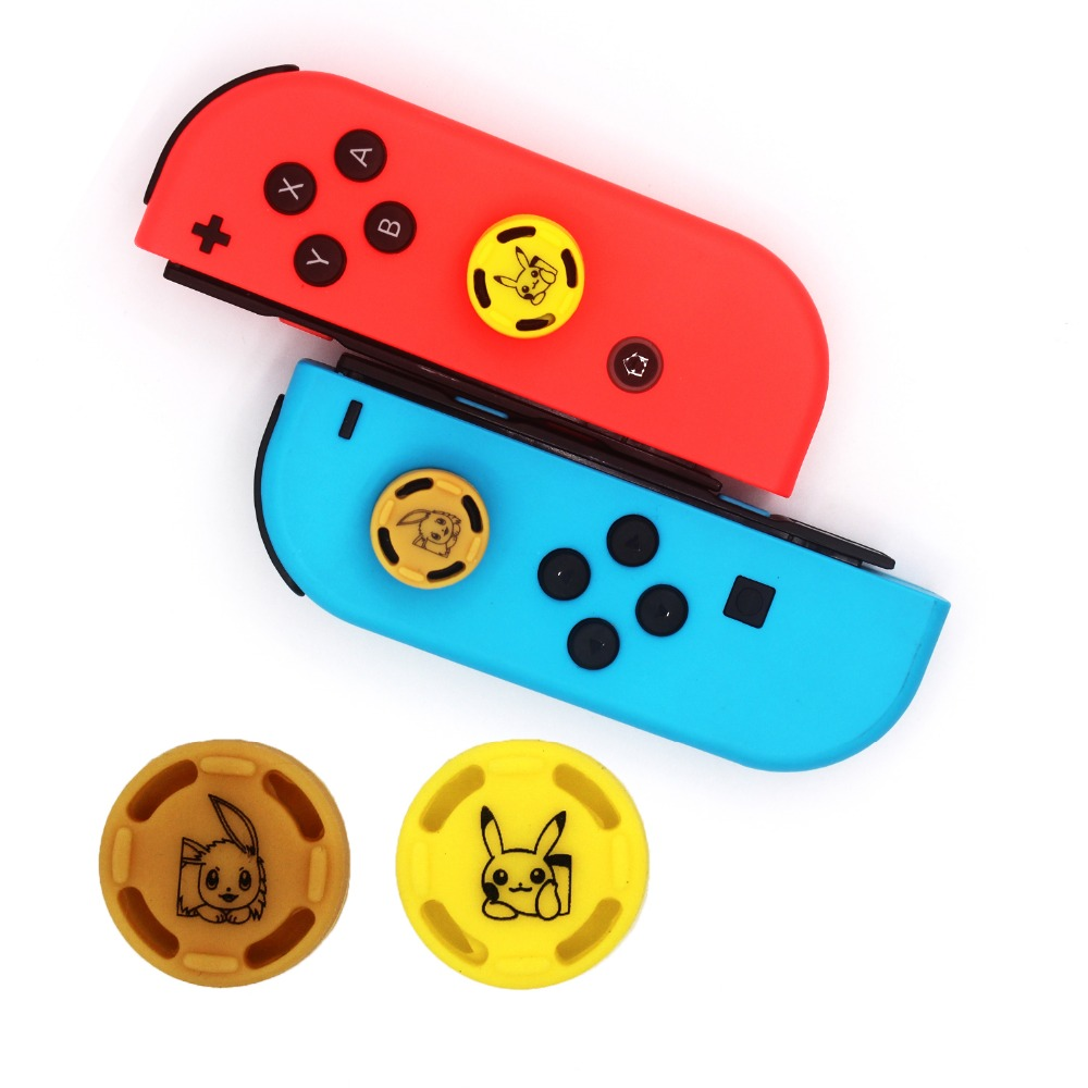 1PC Theme Game Silicone Analog Thumb Stick Grips Caps For Nintend Switch NS JoyCon Controller Sticks Cap Skin For Joy Con Cover