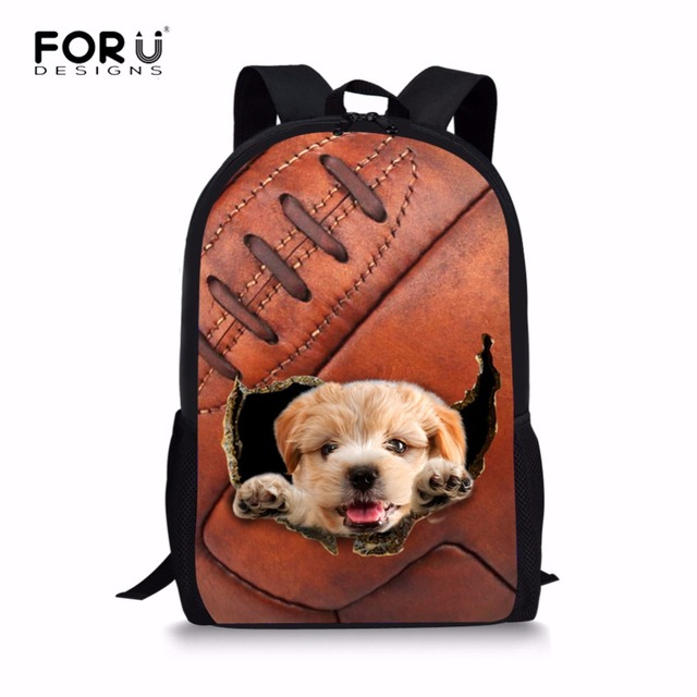 FORUDESIGNS Animal Women Backpack Funny 3D Dog Cat Printing Backpacks for  Teenager Girls Boys Fashion Kids School Bag Mochila