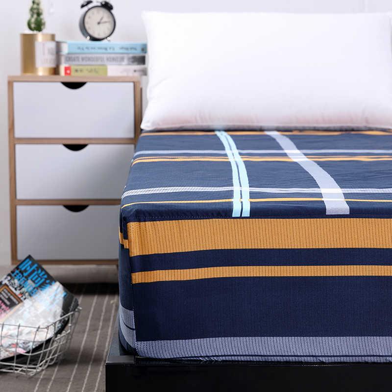 MECEROCK Новый наматрасник с принтом Водонепроницаемая подушка для матраса простыня разделенная вода постельное белье с эластичным