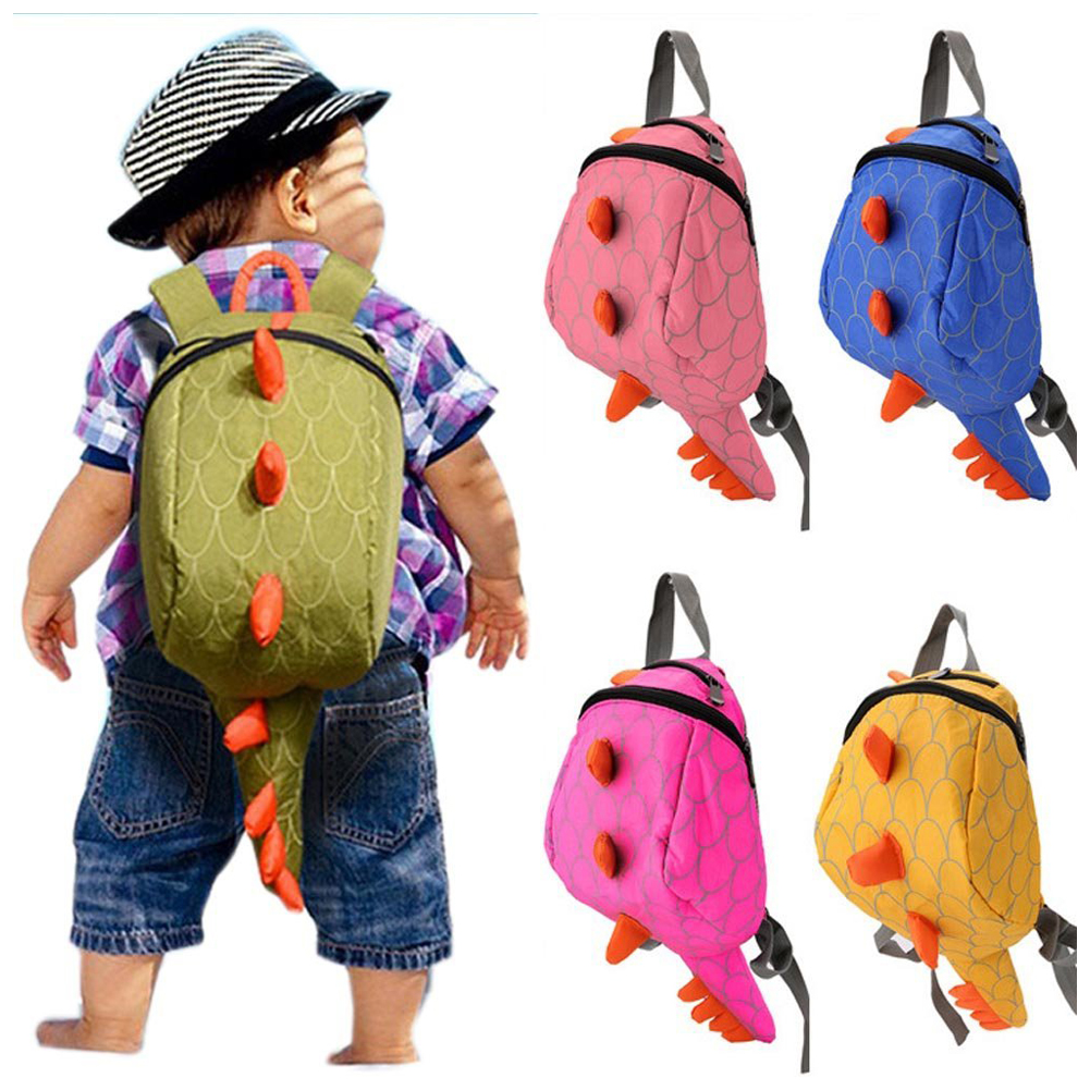 5 pcs of Kids Kindergarten Girls Boys Backpack School Bags Cartoon Animals Smallers