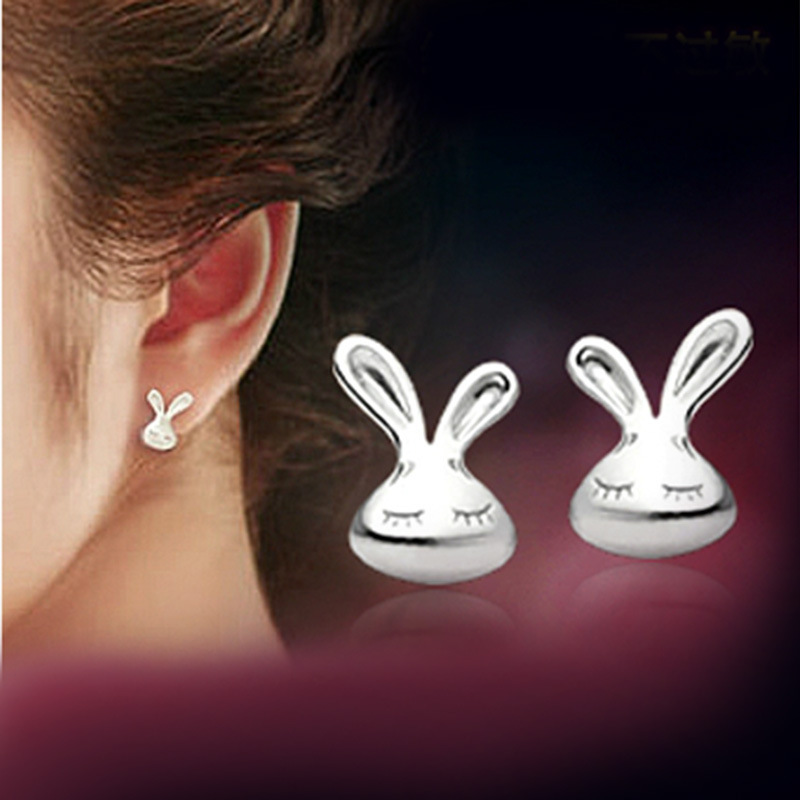 Pameng Whole New Fashion Silver Plated Ear Jewelry Cute Rabbit Stud Earrings For Women E0253 In From Accessories On Aliexpress