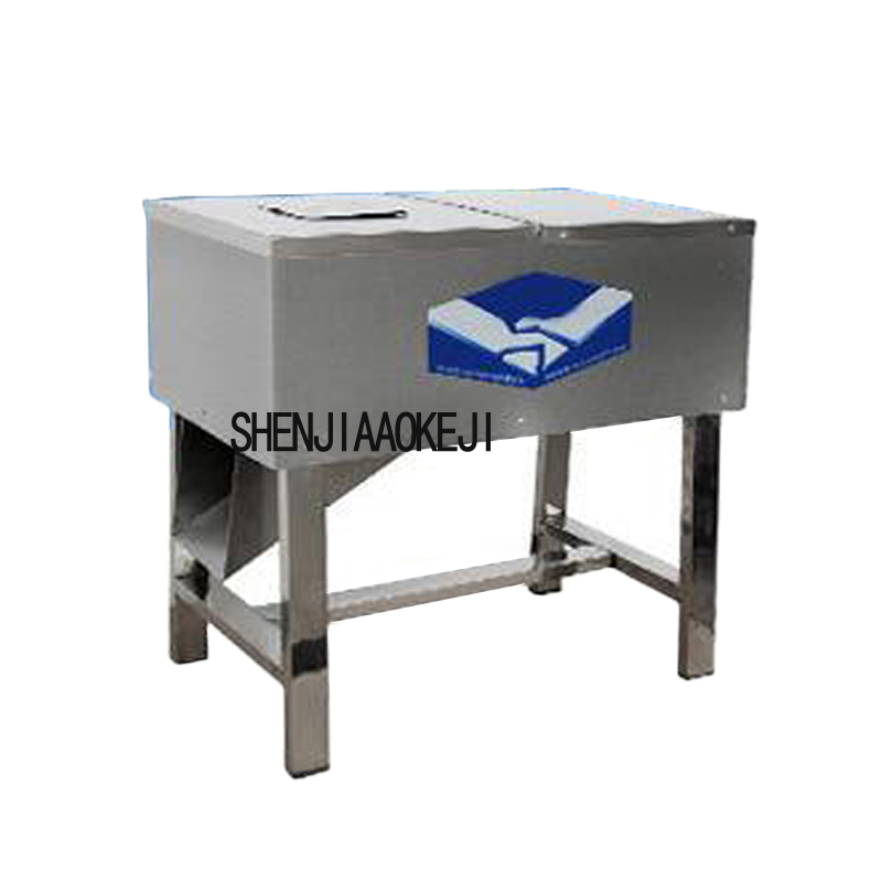 Double hob with multi-purpose detachable meat grinder stainless steel meat slicer 220V 0.75KW Automatic meat cutting machine
