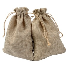 Natural Burlap Bags 13*18cm Candy Gift Wedding Party Favor Pouch JUTE Hessian DRAWSTRING SACK SMALL WEDDING FAVOR GIFT