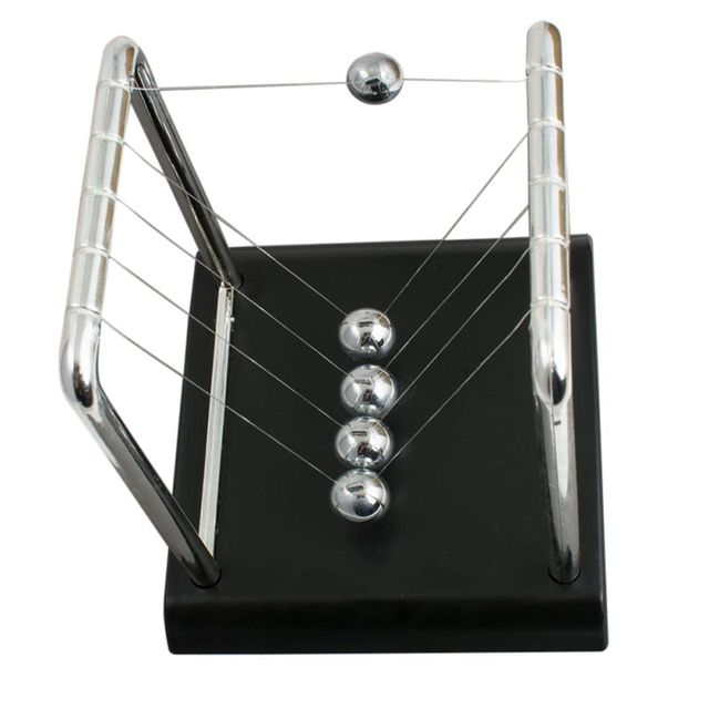 newton pendulum Home Decoration Accessories Newton Cradle Hit Ball Black Base Decoration Science Balance Ball Educational Decor 5