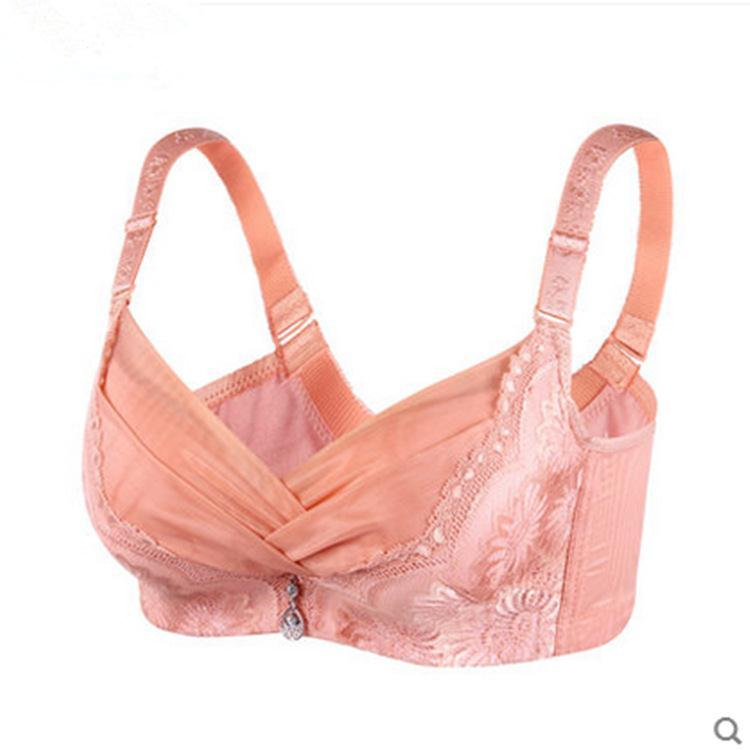 adc6951bbc Deep V super gather sexy bra push up breasted four hook small chest flat  chest thick adjustable best bra-in Bras from Underwear   Sleepwears on ...