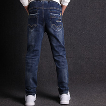 Джинсы для мальчиков, модные повседневные эластичные детские джинсы из 100% хлопка, новинка весны 2019, джинсы для мальчиков, высокое качество