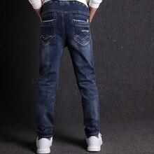 Jeans Für Jungen Mode Casual 100% Baumwolle Elastische kinder Jeans 2019 Frühjahr Neue 3 18 T Jungen Jeans hohe Qualität