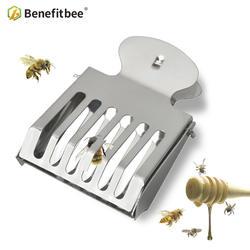 Benefitbee 2 шт пчеловодная королева ловушка для пчел клетка Нержавеющаясталь ловушка для пчел Клип Прочный Материал пчеловод насадка для