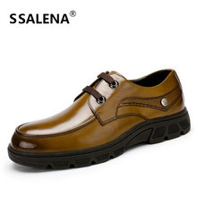 Genuine Leather Dress Shoes For Men Lace Up Business Office Flat Shoes Spring Autumn Comfortable Oxfords Loafers AA10040