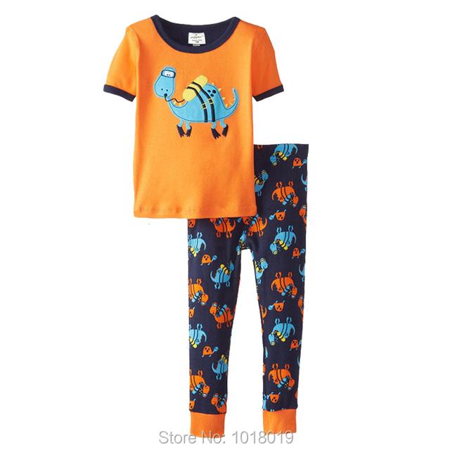 Nuevo 2017 de la Marca de Calidad 100% Del Algodón Del Bebé Ropa de Chicos 2 unids Niños Trajes Ropa Para Niños Pijamas ropa de Dormir Pjs Homewear niños