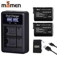 2 piezas EN-EL15 es EL15 ENEL15 EL15A de batería de la cámara Digital + LCD cargador Dual USB para Nikon D810 D7000 d750 v1 D610 D600E D800E
