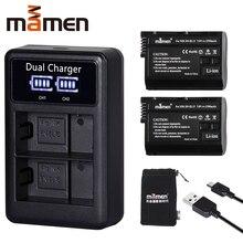 2 шт. EN-EL15 RU EL15 ENEL15 EL15A цифровой Камера Батарея + ЖК-дисплей USB Dual Зарядное устройство для Nikon D810 D7000 d750 V1 D610 D600E D800E
