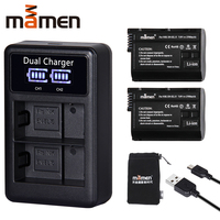 2Pcs EN EL15 EN EL15 ENEL15 EL15A Digital Camera Battery + LCD USB Dual Charger for Nikon D810 D7000 d750 V1 D610 D600E D800E