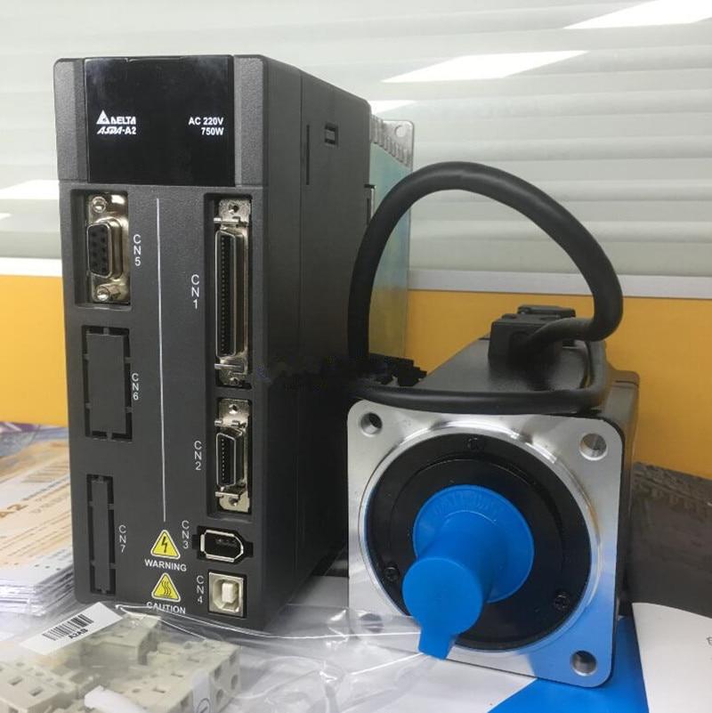 ECMA-C10807RH+ASD-A2-0721-L DELTA AC servo motor driver kits 0.75kw 3000rpm 2.39Nm 80mm frame new original detla servo driver ecma ca0602ss asd a2 seria