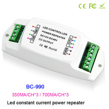 BC-990 led RGB Strip Amplifier DC12V-48V  Constant current PWM LED power repeater 350mA amplifier 700mA Power controller