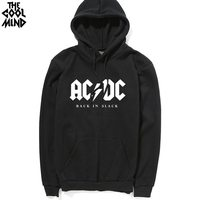 2017 Winter New Fashion AC DC Band Rock Sweatshirt Mens Acdc Graphic Hooded Men Print Casual