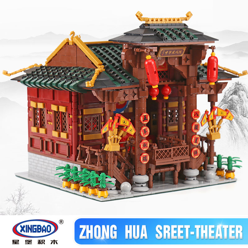 IN STOCK Xingbao 01020 Classic Traditional Chinese Peking Opera Stage Compatible Legoing City Building Blocks Bricks 3820 Pieces 8 pieces set china postage used stamps 1980 t 45 peking opera facebook