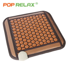 POP RELAX Tourmaline germanium seat mattress computer chair sitting mat hexagon stone far infrared ion heating pad health care