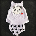 Retail 2016 summer style infant clothes baby clothing sets girls Cotton cartoon sleeveless 2pcs baby girl clothes