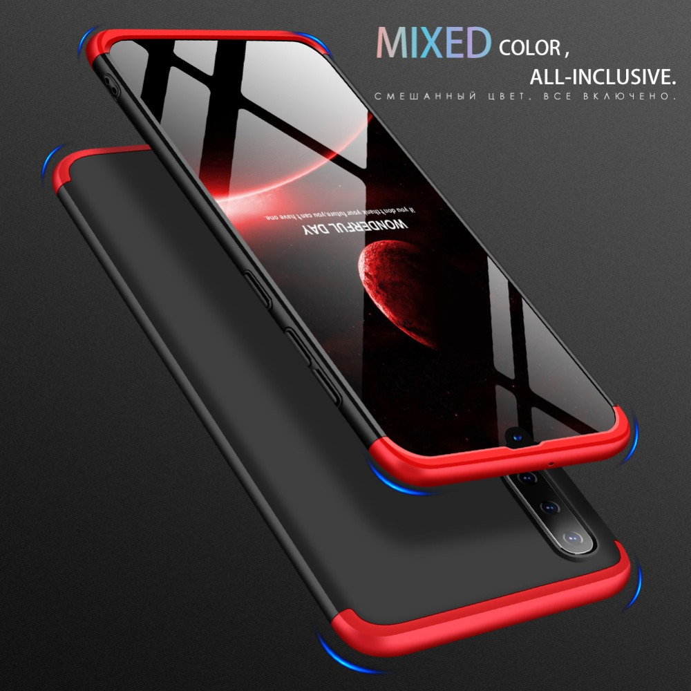 Case for Samsung Galaxy A10 A30 A50 Case 3 in 1 Armor 360 Hard PC Matte Back Cover for Galaxy A50 Case Coque Fundas in Fitted Cases from Cellphones Telecommunications