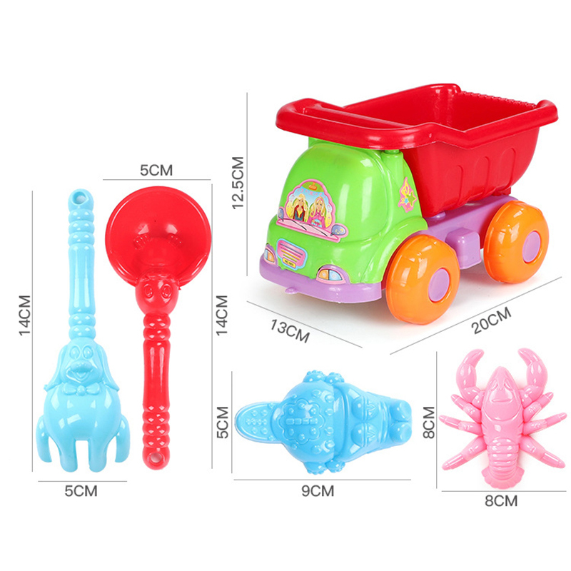 Beach Sand Play Toys set Kids Seaside Bucket Shovel Rake Kit Play Toy digging sand shovel tool gifts Random Color in Beach Sand toys from Toys Hobbies