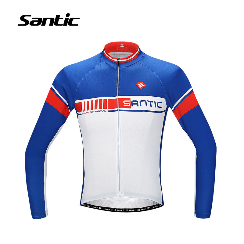 Santic Cycling Jersey Long Sleeve MTB Mountain Bike Jersey Bicycle Clothing Cycling Shirts Maillot Roupa Ropa De Ciclismo Hombre
