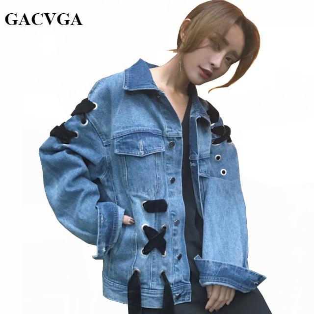 4c29ecd0c06e1 GACVGA 2018 Spring Autumn Denim Jacket Women Embroidered Plus Size Bomber  Jacket Hooded Jeans Jacket Women Basic Coats
