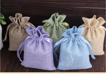 14*18 120pcs Mixed Jute Drawstring Sacks gift bags with jewelry/Accessories/Cosmetic/wedding/christmas Linen pouch Packaging Bag
