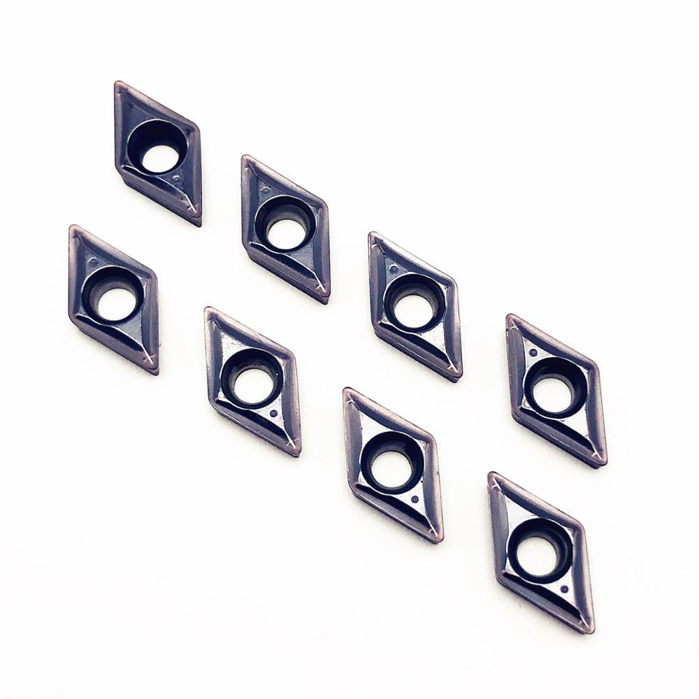 10 pces dcmt070204 sm ic907 alta precisão carboneto de inserção torno ferramenta peças torno cnc metal ferramentas torneamento tokarnyy dcmt 070204
