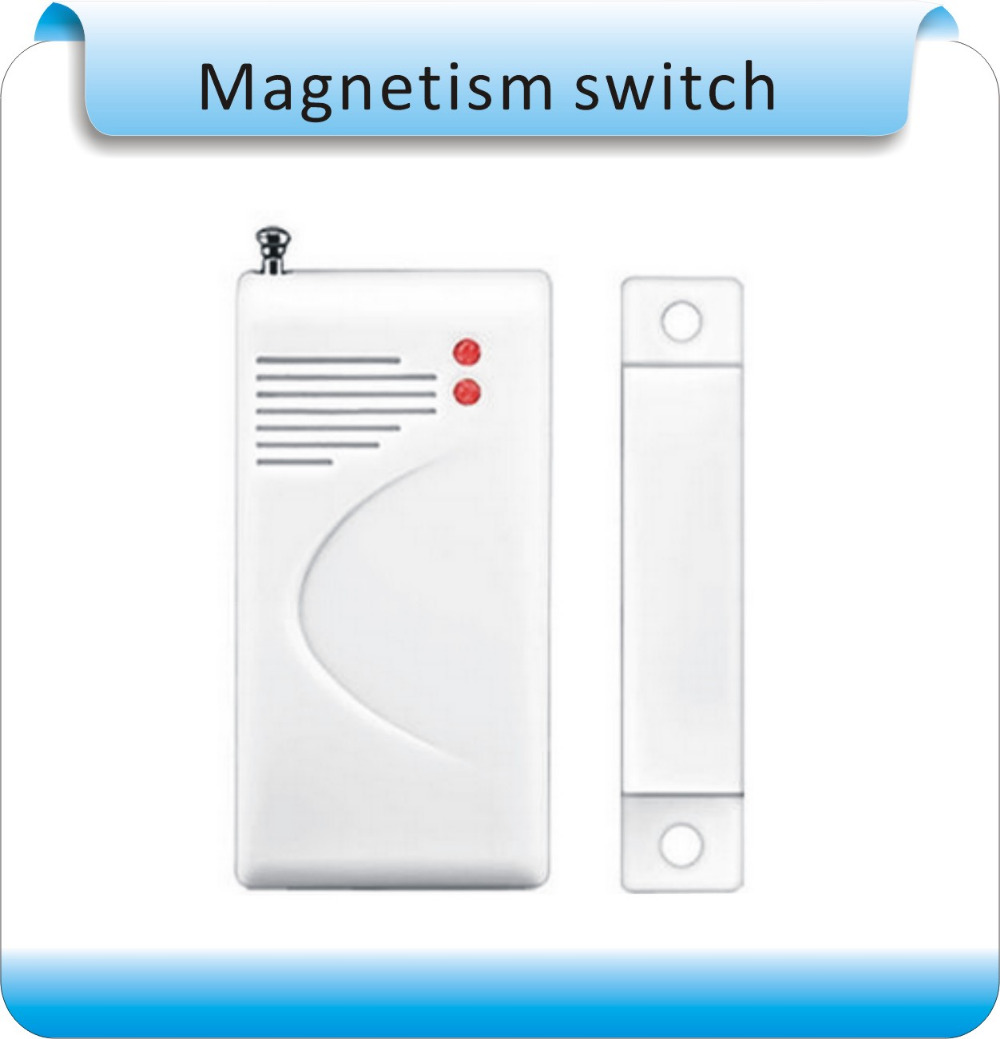 Free shipping 10pcs Wireless Door Window Magnetic Sensor Switch 433/315Mhz for Home PTSN <font><b>GSM</b></font> <font><b>Alarm</b></font> <font><b>System</b></font> Security Accessories