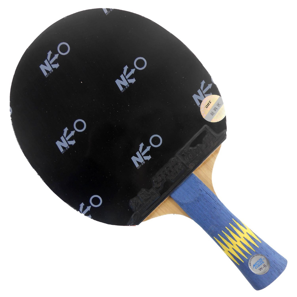 Pro Table Tennis (PingPong) Combo Racket: Galaxy YINHE W-6 with 2x DHS NEO Hurricane 3 Rubbers Long shakehand FL