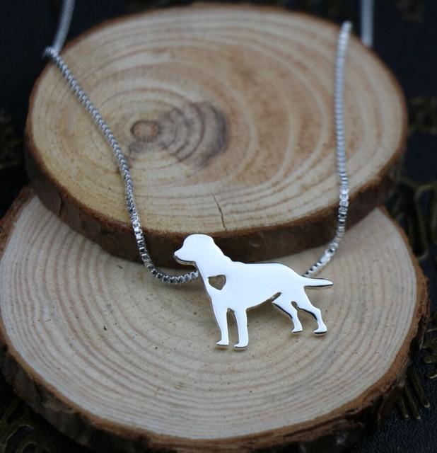 Fashion Labrador Silver Pendant