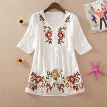 new   summer women blouses .100%  cotton shirts ,plus size casual  blusas femininas  shirt /blouses