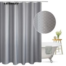 цена на UFRIDAY Shower Curtain Waffle Weave Pattern Durable Charcoal Fabric Bathroom Curtain Waterproof Mildew Resistant Bath Curtain