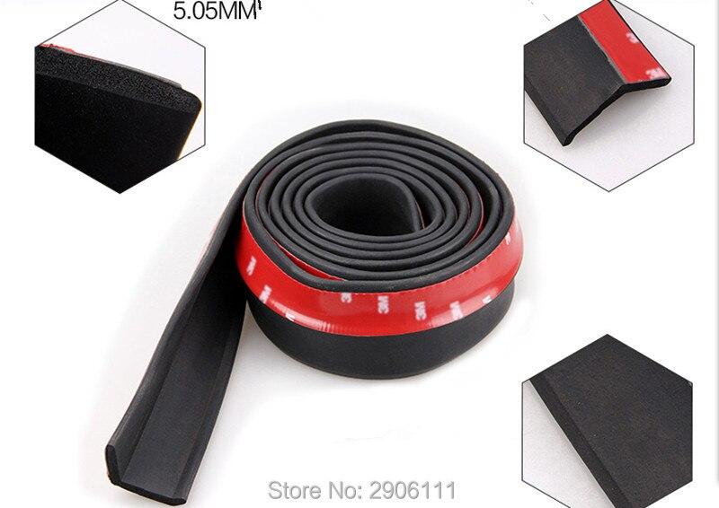 Protecteur universel de jupe de lèvre d'autocollant de voiture de 2.5 M/8.2ft pour BMW e46 e90 e39 f30 f10 e36 e60 x5 e53 f20 e34 accessoires de voiture-style