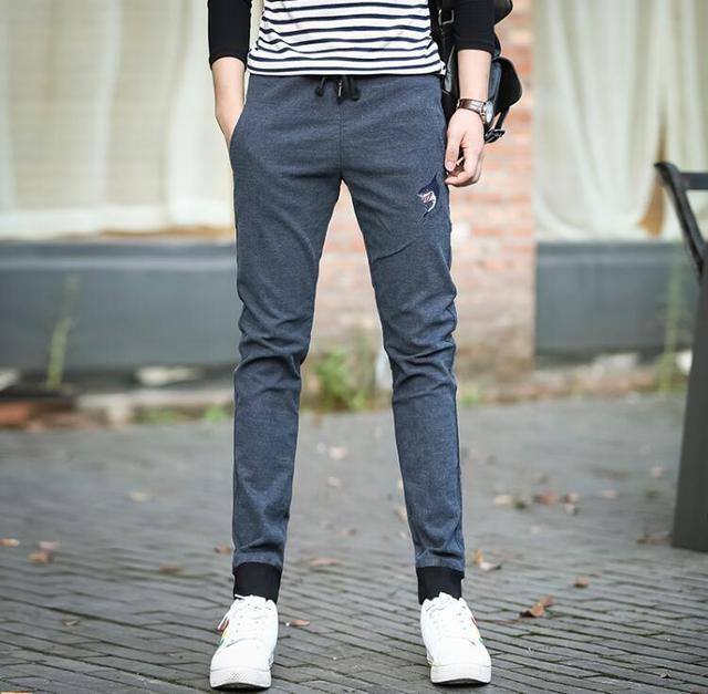 Hot molhos harlan calças masculinas de negócios de alta qualidade casuais calças apertadas faixa decal tamanho grande calças de todos os jogos calças dos homens ativos