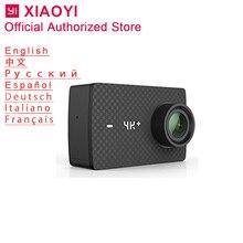 Xiaomi Yi 4 k Plus Спортивная Экшн-камера Cam Открытый Kamera экран Wifi Bluetooth широкоугольный объектив сенсорный экран Camaras 4 k + TF слот