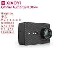 Xiaomi Yi 4k Plus действие Камера Спорт Cam Открытый Kamera Экран Wi-Fi Bluetooth Широкий формат объектив Сенсорный экран Camaras 4 К + слот для карт