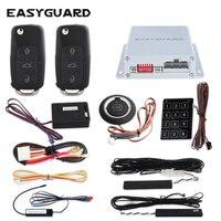 EASYGUARD автомобиля Автосигнализация пульт дистанционного управления авто старт Кнопка зажигания сенсорный пароль датчик удара псевдослучай