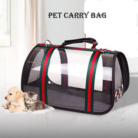 AHUAPET Pet Carrier Bag Dog Bags For Small Dogs Cats Backpack Eco friendly Waterproof Windproof Transparent Dog Travel Bag E