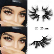 Mangodot 1Pair 25mm 3D/6D Mink Eyelashes Luxury HandMade Cilios Long Lasting Volum Extension Reusable False 6D02